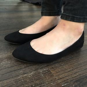 b3790e68e Mossimo Supply Co. Shoes | Lace Up Black Ballet Flats | Poshmark